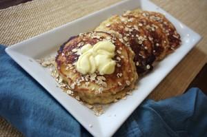Honey Oat Pancakes