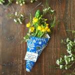Modern Floral May Basket + Koolyoks