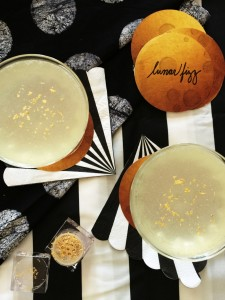 Lunar Fizz Cocktail + Mocktail