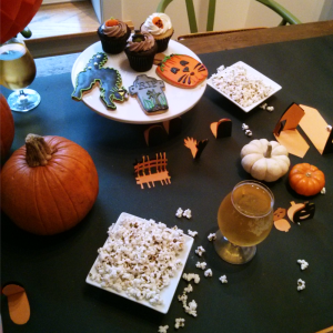 Pumpkin Carving Party with DIY Pop-Up Table Runner